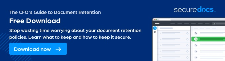 A CFO's definitive guide to document retention